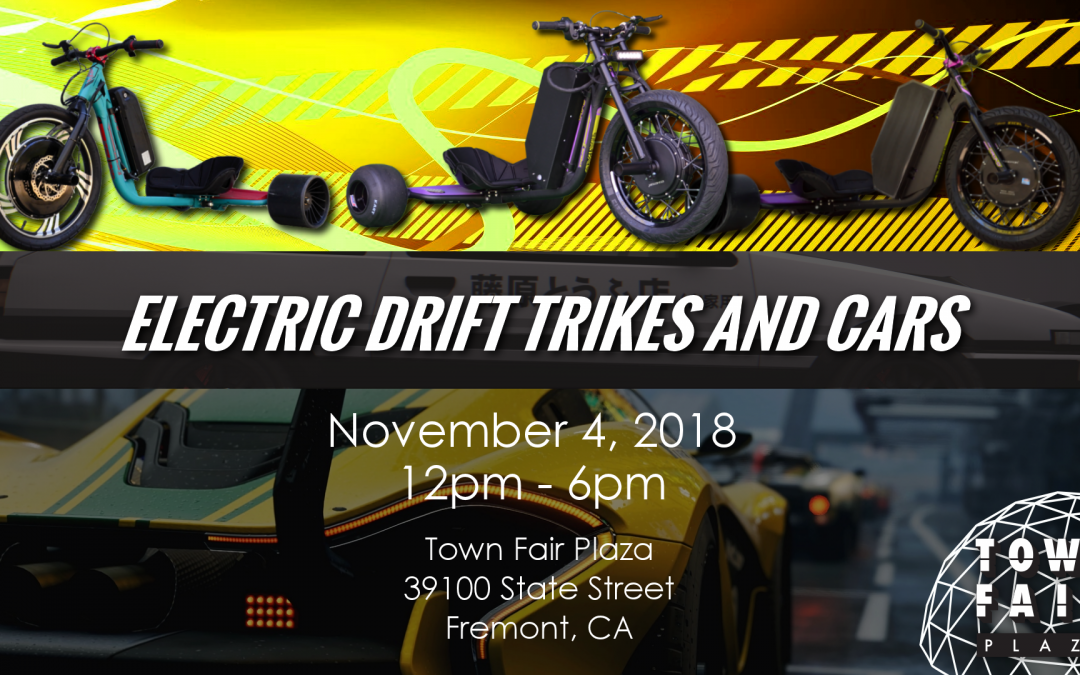 11/4/18 Electric Drift Trikes & Cars @ Town Fair Plaza