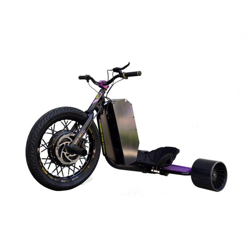 eDriftTrikes - Mid Power Electric Drift Trike Front Left Quarter