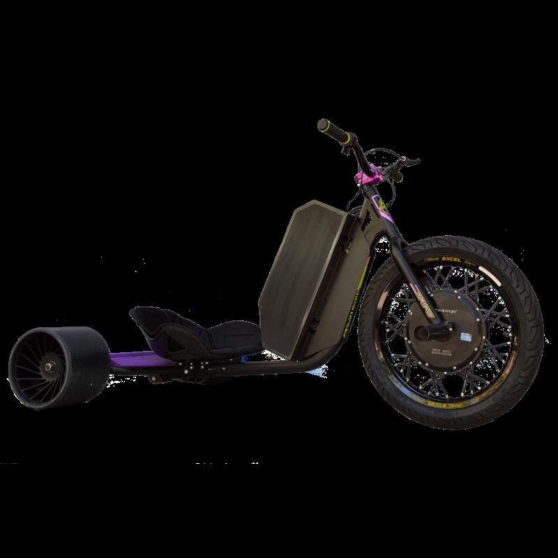 eDriftTrikes - Mid Power Electric Drift Trike Front Right Quarter