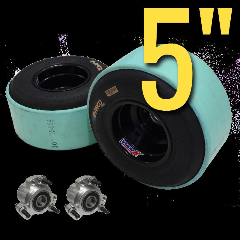 eDriftTrikes - VanK 5 inch Wide Go Kart Wheel Package